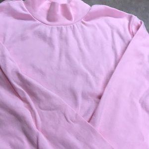 Pink mock turtleneck